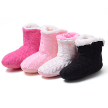 Warm Home Slippers 2016 New Korea Style Flower Lovely Home Shoes,Floor Socks , Indoor Slippers Winter Foot Warmer,4 colors