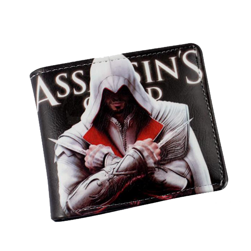 Cool Game Wallet Assassin's Creed Master Assassin Altair Wallet For Young Boy Girl Student Leather Short Money Bag Wallet Purses(China (Mainland))