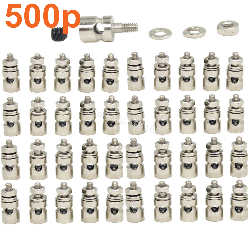 500pcs RC Airplane Replacement Parts Linkage Stoppers Pushrod Connectors D2.1 mm D1.8mm D1.3mm Radio Control Electric Plane(China (Mainland))