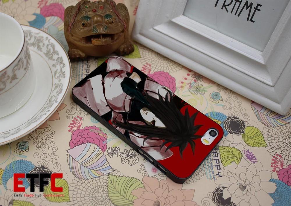 ETFC-446 uchiha madara Design Hard Black Skin Case Cover for iPhone 4 4s 4g 5 5s 5g