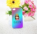 Drama Queen Emoji White Hard phone Case Cover for iPhone 4 4s 5 5s 5c 6