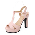 Plus size 34 43 New 2017 Summer Women Sandals Fashion Thick High Heels Party Shoes T