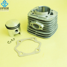 OPHIR Silver 49CC 2 Stroke Motorized Bicycle Engine Cylinder Piston Kit with Cylinder Bottom Gasket _MRA5S+A7+A12(49CC)