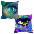 Popo Art Multicolor Graffiti Evil Eye Print Car Decorative Throw Pillowcase Pillow Case Cushion Cover Sofa