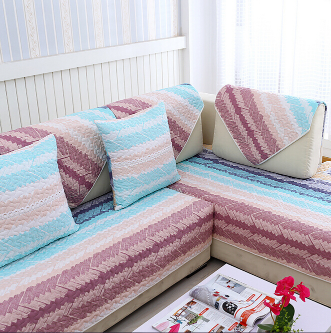 cubiertas para sofa quilted cushion printed cotton couch