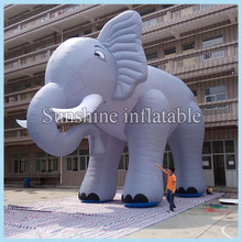 Buy Hot sale outdoor huge inflatable elephant cartoon advertising 6m, 20ftL for $850.00 in AliExpress store