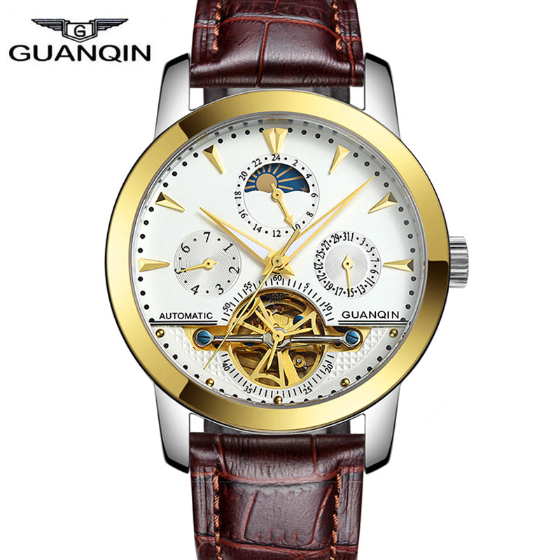 Relogio masculino Guanqin watches men luxury brand mechanical watch clock full steel watch reloj men casual business wristwatch<br><br>Aliexpress
