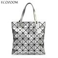 Ladies Folded Geometric Plaid Bag Women Fashion Casual Tote Top handle Bag Shoulder Bags Bao Bao