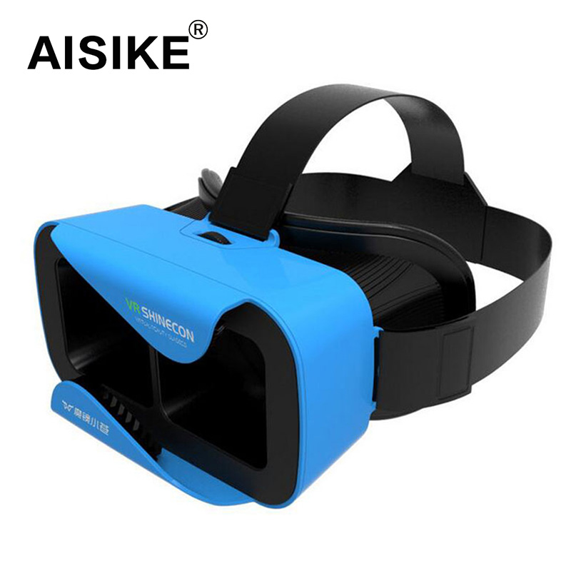 "VR Shinecon III Head-Mount Cardboard Virtual Reality Glasses Mobile 3D Video Movie Glasses 3 D VR Helmet Park for 4.7-6.0"" Phone(China (Mainland))"