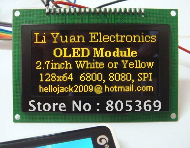 2.7 inch yellow OLED module  OLED display