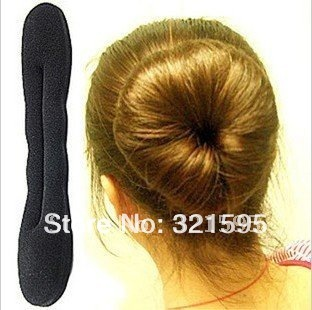 Min.order is $15 (mix order) Fashion Sponge Hair Device Hairdisk Quick Messy Bun Updo Headwear Coiffure AQ1322