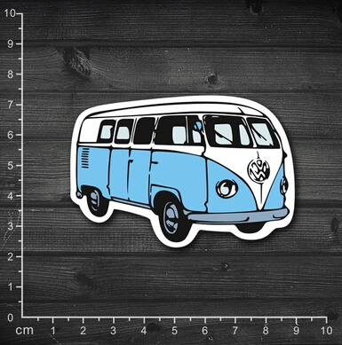 Single retro rock stickers Woodstock hippie bus notebook stickers affixed waterproof case 1-134(China (Mainland))