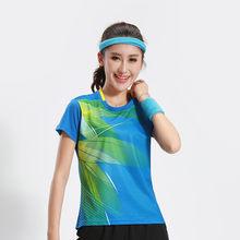 Free Printing Badminton shirts , Tennis shirt Male/Female , Quick dry Table Tennis shirt , Tennis sports training shirts 3070AB(China)