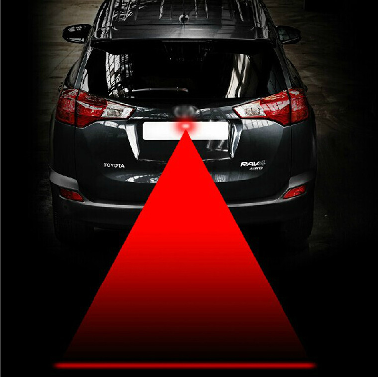 Car Laser Fog Light Rear Anti-Collision Driving Safety Signal Red Warning Lamp Brake Parking Light Auto Accessories(China (Mainland))