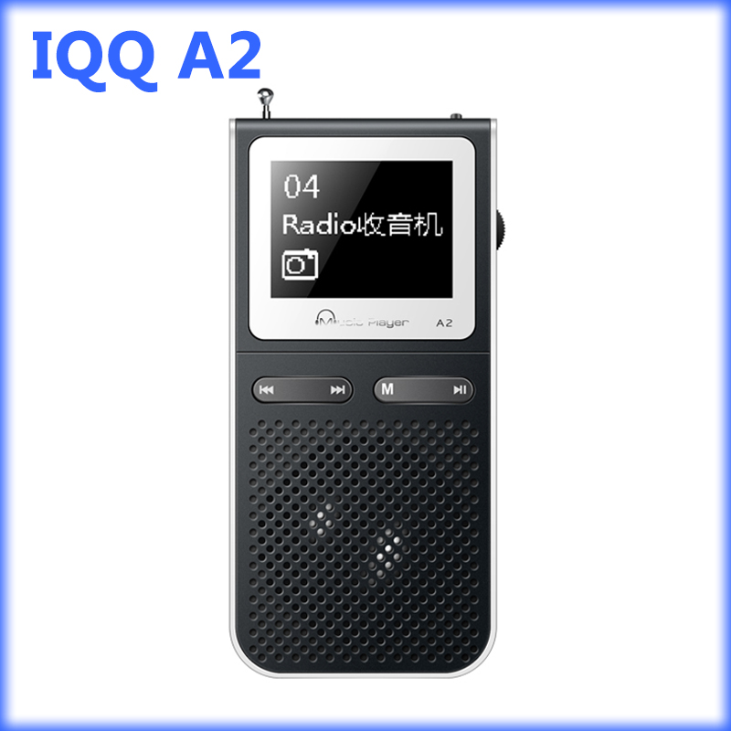 IQQ A2 mp3 player with speaker 1.8 In Screen 100 Hours Playback with FM Radio,Voice Recorder,E-Book mp 3 Supports TF Card Slot(China (Mainland))
