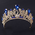 High quality bridal wedding Tiaras Crystal pearl princess crowns Lady pageant hairwear rhinestone hair accessories