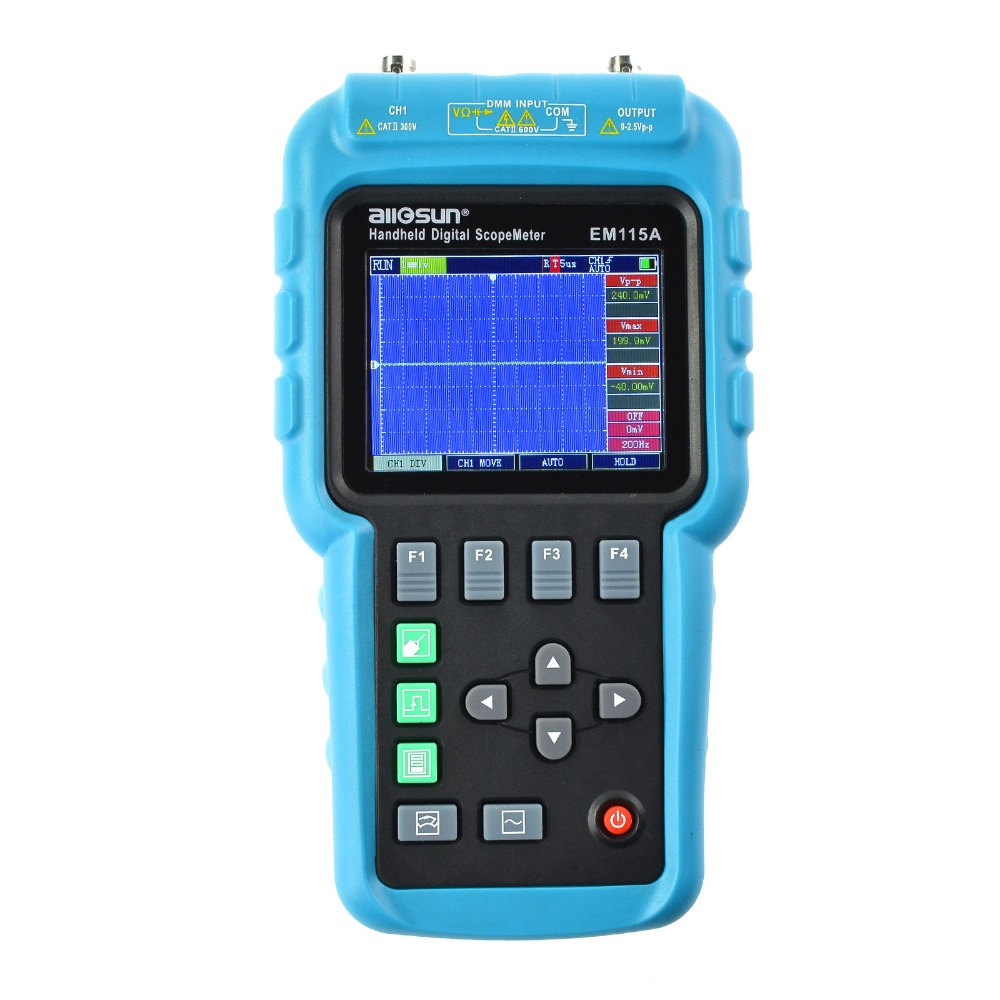all sun Handheld Oscillograph 3 in 1 Multifunction Oscilloscope 50MHZ Color Screen Scopemeter Single Channel Hot