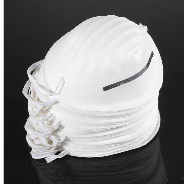 Wholesale 50 pcs/Lot Molded Face Disposable Dust Mask Cleaning Masks Respirator Safety Non-Toxic Dropshipping(China (Mainland))