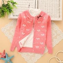 6-14 years girls cotton cardigan girls' sweaters 2016 spring new style children sweater K501(China (Mainland))
