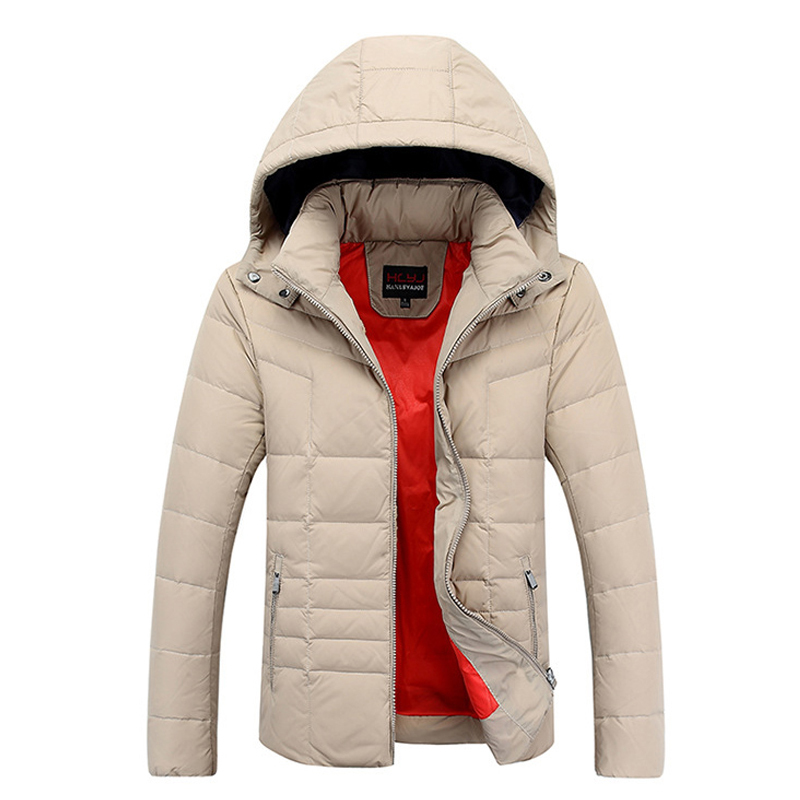 New 2015 Winter Jacket Men High Quality White Duck Down Hooded Jackets Men Clothes Winter Outdoor