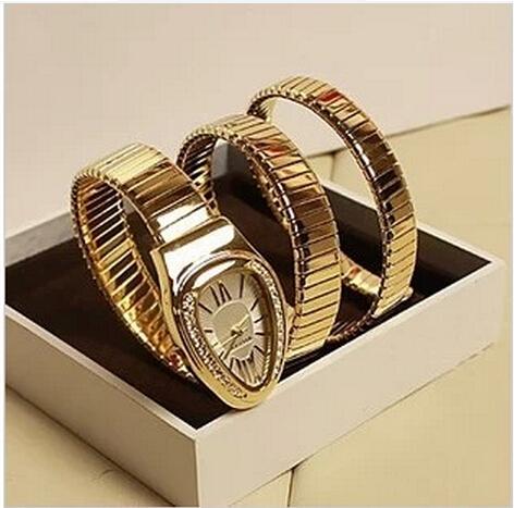 Гаджет  2014 luxury brand women dress watch women rhinestone watches rose gold steel snake lady watch dimaond wristwatch bracelet None Часы