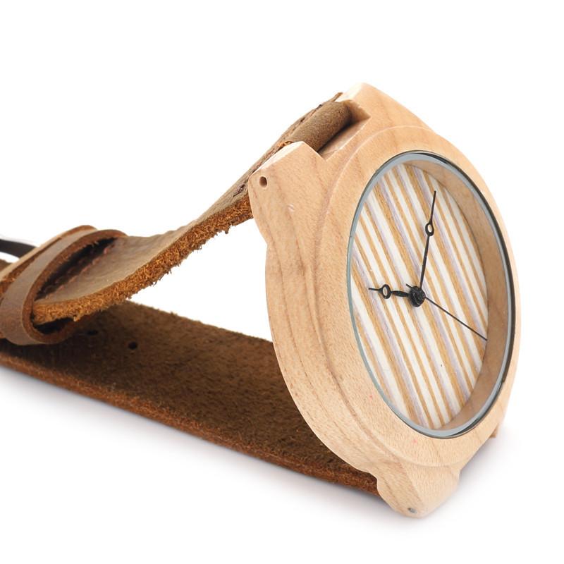 БОБО ПТИЦА Новая Мода Деревянный Бамбука Часы Мужские Лучший бренд Дизайн Luxulry Платье Часы Япония 2035 Кварцевый Механизм Наручные Часы
