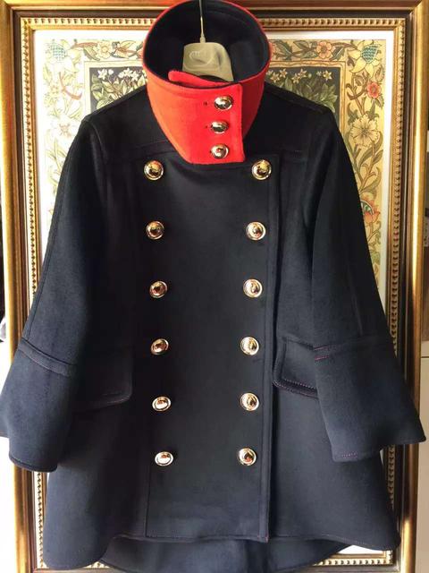 2016 зимняя куртка женщины роскошные шерстяное пальто