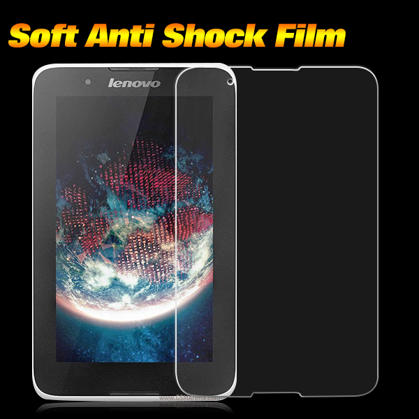 for lenovo A3300 TPU Anti-Shock Screen Protector film for lenovo A3300 Anti shock Protective Film shockproof screen guard 2pcs(China (Mainland))
