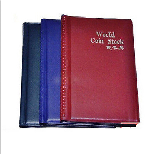 Randomly color 120 Coin Holders Collection Storage Money Penny Pockets Album Book Collecting(China (Mainland))