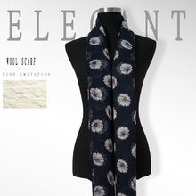 Autumn and winter all-match new wool scarf long scarf like deep blue print scarf Pashmina(China (Mainland))