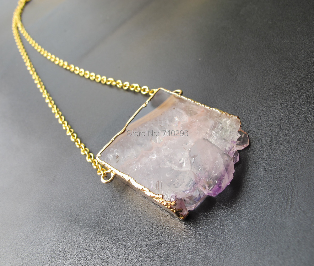 amethyst stone necklace - photo #37