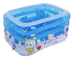 kid bathtub baby swimming pool with pump gift cartoon rectangular inflatable mattress boat pvc swimming pool 145*110*75CM<br><br>Aliexpress