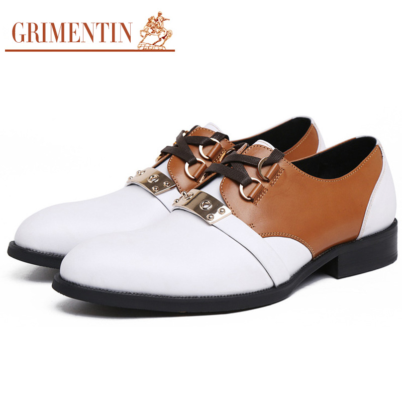 2016 Italian designer mens shoes top grade genuine leather lace up pointed toe elegant casual flats shoes for men business z688(China (Mainland))