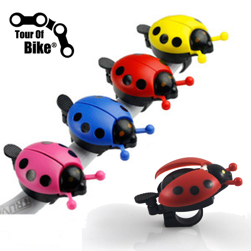 2015 New Funny Bicycle Bell Bike Bell New Ladybug Cycling Bell Outdoor Fun & Sports Bike Ring kids bicycle bell(China (Mainland))
