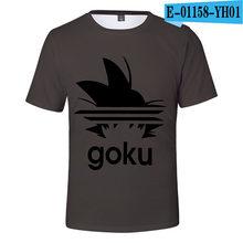 2019 футболка с драконом и шариком вокруг мужчин/женщин/детей Saiyan футболка «Goku» топы, мужская одежда футболки для мальчиков и девочек(China)