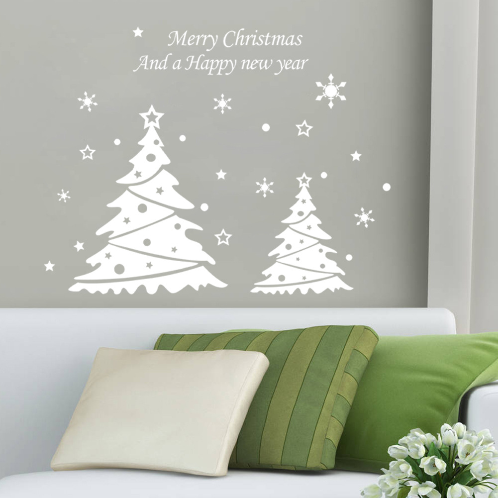 Buy 2015 new arrival christmas tree pvc for Christmas wall mural plastic