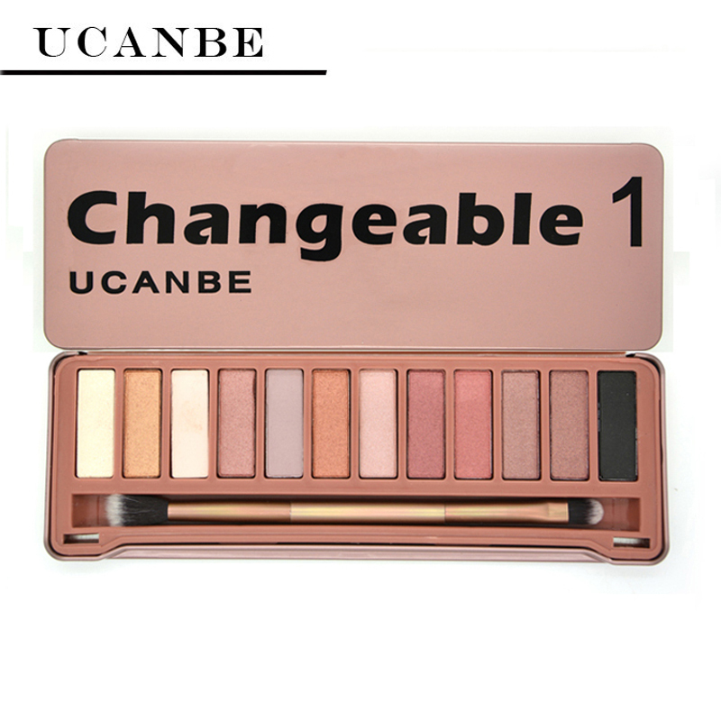 UCANBE Brand NAKED Eye shadow Makeup New Changeble 1 palette 12 Colors eyeshadow palettes brush makeup set cosmetics - IMAGIC Store store