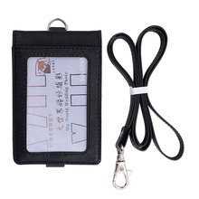 Buy Top PU Leather Neck Wallet Credit Card Holders Black Color ID Card Holder Neck Card Folders Accept Customized High for $13.00 in AliExpress store