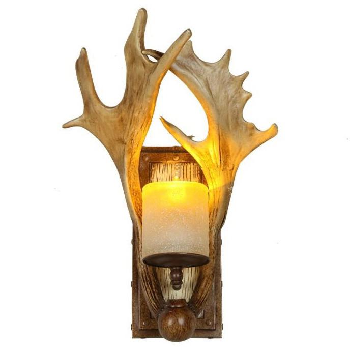 Whirlpool Bad Gebruikt ~ Wandlamp retro bar & cafe wandlamp bedlampje trap Gewei lamp wandlamp