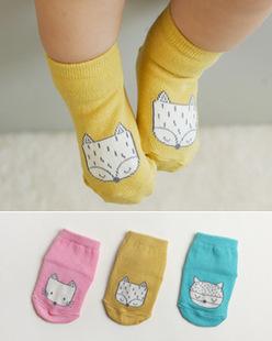 Wholesale 2015 hot fashion cartoon little fox cotton comfortable babys socks infant socksmeias infantil  chaussette enfants