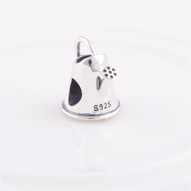 Аутентичные стерлингового серебра 925 бусины полива горшок для женщин урожай шарм ювелирные изделия DIY подходит для Chamilia европейский шарм браслет