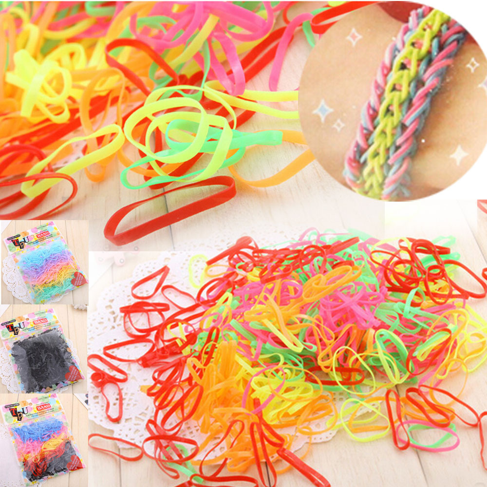 candy colour Mixed 1 bag 30Rubber Hairband Rope Ponytail Holder Elastic Hair Band Ties Braids Plaits - Enjoy Sweet Life store