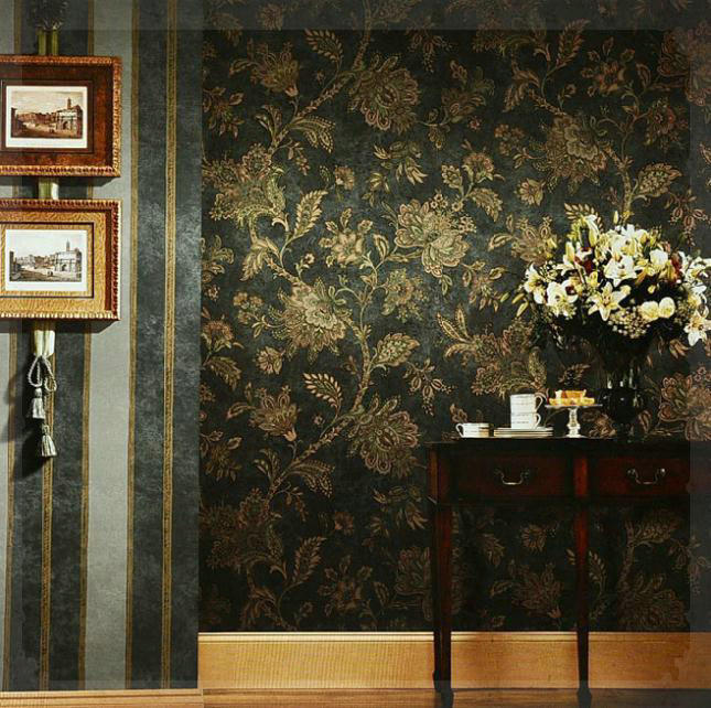 Rustic Black And Gold Wallpaper Vintage Wall Paper