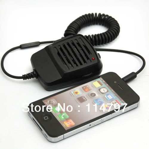 Audio wired handheld interphone 3 5mm speaker microphone w clip for iphone 4 4s 5 new free
