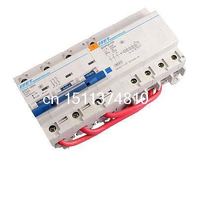 Здесь можно купить  Plastic Shell Earth Leakage Circuit Breaker + 3 Pole Protective MCB Switch  Электротехническое оборудование и материалы