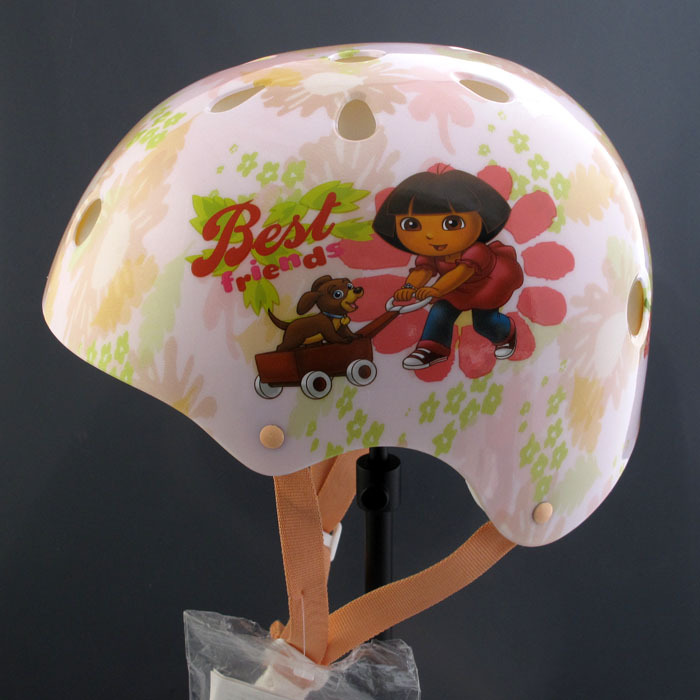 2014 new Free shipping Dora Puppy children road bicycle helmet,kid bicycle accessories cool bicycle parts,girl cycling helmet(China (Mainland))