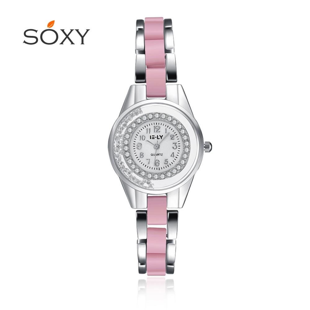 2016 Hot Sale Quartz Wristwatches Simulated-ceramics classic fashion lady bracelets watch best gift(China (Mainland))