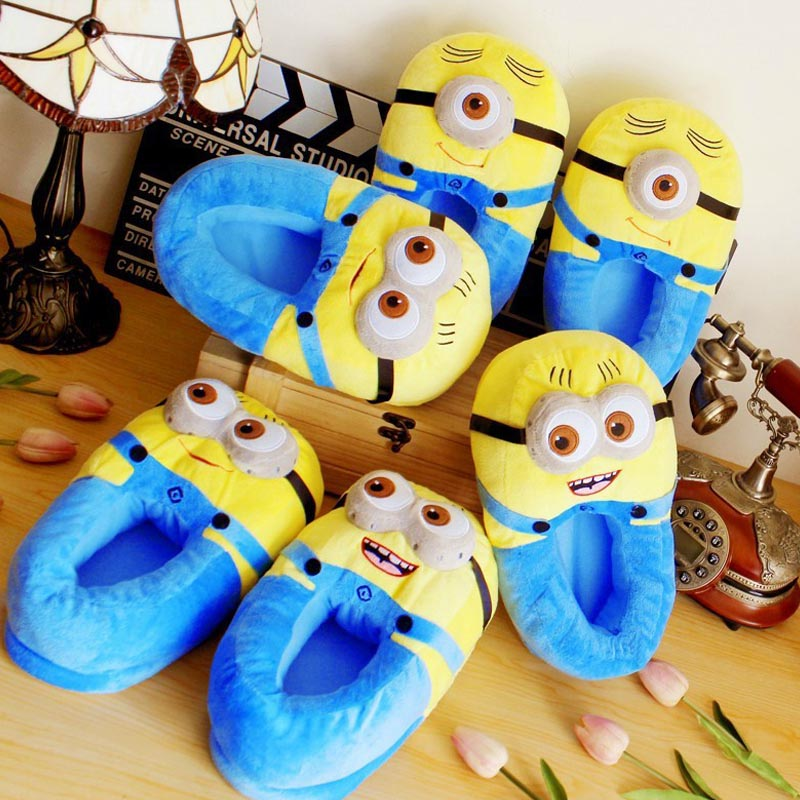 Despicable Me Minions Plush Stuffed Slippers Cuddly Fluffy Collectible Jorge Dave Stewart 11inch Three styles Free Shipping<br><br>Aliexpress