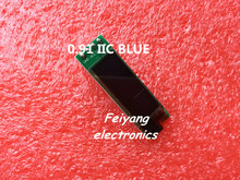 "1pcs 0.91 inch OLED module 0.91"" blue OLED 128X32 OLED LCD LED Display Module 0.91"" IIC Communicate(China (Mainland))"