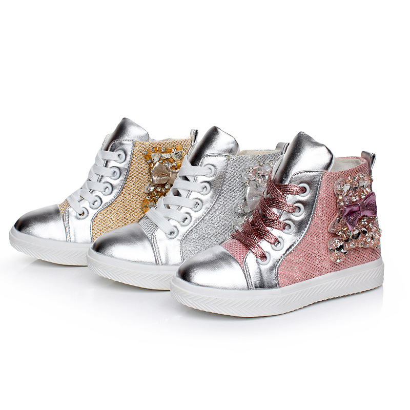 2014 autumn new children s shoes wholesale Korean fashion casual girls shoes high-top canvas snakeskin kids shoes<br><br>Aliexpress